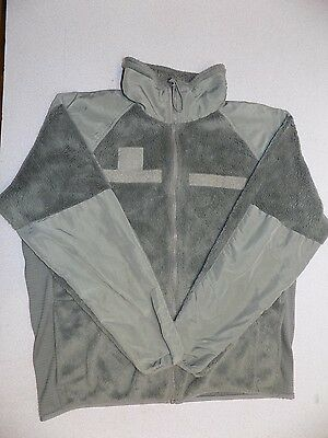 Cold Weather XL-L L3 Green Fleece Jacket Extra Large Long ECWCS Army Military