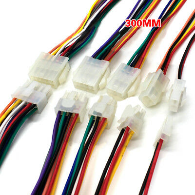 18AWG 4.2mm 2P-24P Female Male Plug Connector Terminal + Electronic Wire 300mm