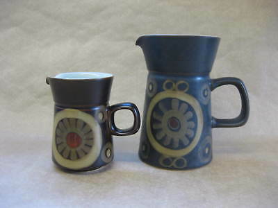 2 Vintage Denby Pottery Arabesque Jugs