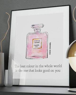 Chanel Whole World Inspirational Quote Poster Art Print A3 A4 A5 A6 Decor Gift