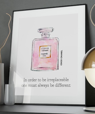 Chanel Be Different Inspirational Quote Poster Art Print A3 A4 A5 A6 Decor Gift