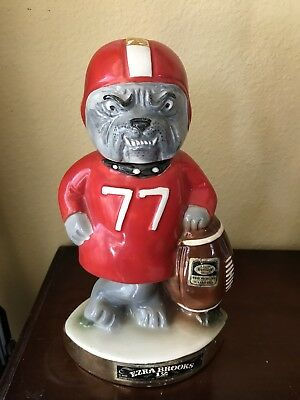 Vintage UGA 1971 Georgia Bulldogs SEC Football Player Decanter Ezra Brooks