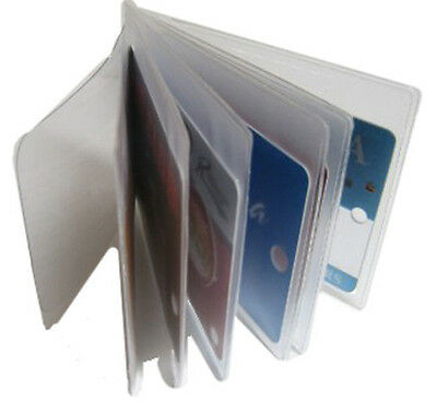 2 Clear Plastic Insert 6 page Replacement Picture Card Holder for Bifold Wallet