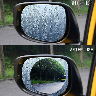 2pcs Car Anti Water Mist Film Anti Fog Rainproof Rearview Mirror Protector Films