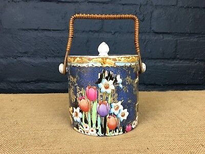 RARE ART DECO LOSOL WARE KEELING & Co THE DAWNAY BISCUIT BARREL JAR-CIRCA 1915