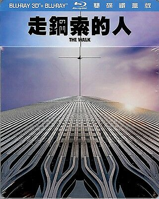 THE WALK Limited Edition SteelBook 2-Disc Blu-ray 3D (Region A, B & C Taiwan)