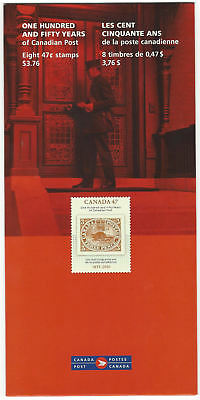 """2001  SC#1900 """"150 Years of Canada Post"""" 0.47¢ - Booklet  8 stamps STILL SEALED"""