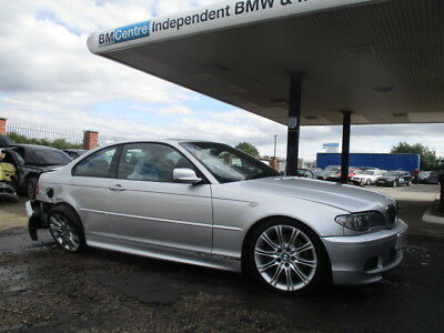 Bmw E46 330 Msport Coupe Convertible Door Bare Front Driver Side Silver Breaking