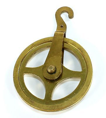 Brass Pulley For Clock Cable -1-7/8 Inch - Bg122