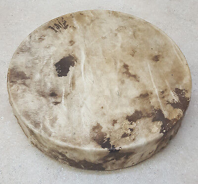 """Nice Hand Crafted 15"""" Rawhide Wood Frame Native American Indian Hand Drum"""