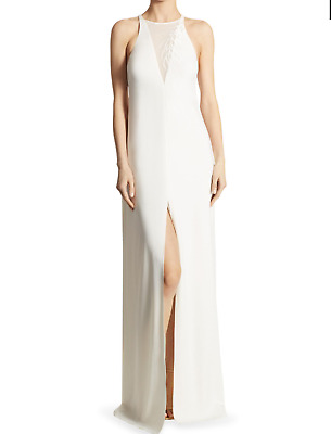 3ce591bedfcf HALSTON HERITAGE Elegant Gown In Chalk Saks 5th Ave Exclusive (Size  6)- 525.00