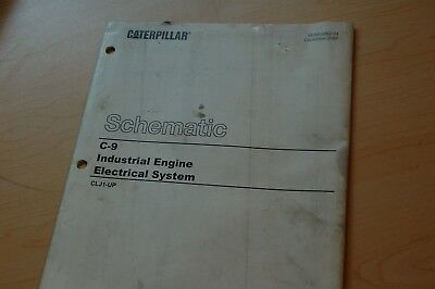 cat caterpillar c9 engine engine electronic wiring diagram schematic manual  2002