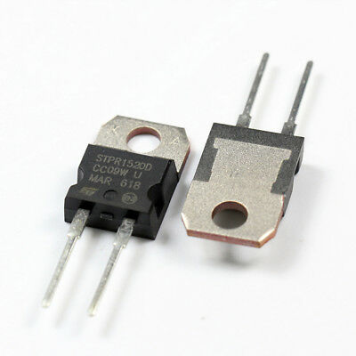 MUR1520 U1520 Ultra-fast Recovery15A 200V Si 2 Pin  BY HSRRIS LOT OF 10