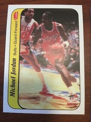 86 Fleer Michael Jordan Chicago Bulls Basketball Rookie Card RC Reprint 8 of 11