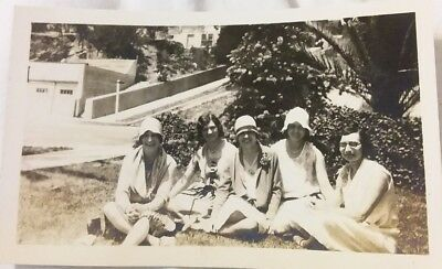 2 Vintage Old 1920's Photos of Flapper era Girls Women with & without Hats