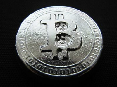 HACMint 3.8 oz 999+ Fine Silver BITCOIN Hand Poured ART BAR