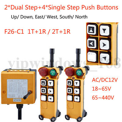 F26-C Crane Remote Transmitter&Receiver Industrial Radio Control 6Button for EOT