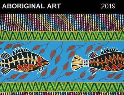Aboriginal Art 2019 Horizontal Wall Calendar by Browntrout NEW