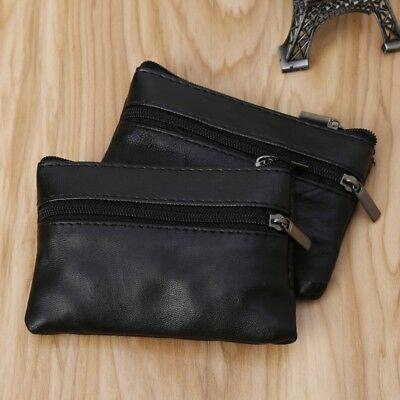 Men Women Card Coin Key Holder Zip Leather Wallet Soft Pouch Bag Purse Gift New