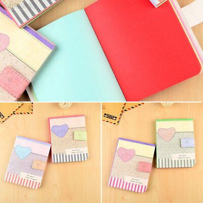 AC6B CuteHardbackNotepad Notebook Writing Paper Journal Memo Stationery Gifts
