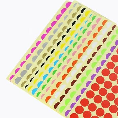 12 Label Round Point Stickers Color Paper Of Any Size
