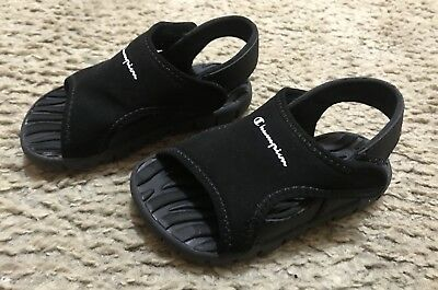 b08c2a85b4a2dd Baby Boys Toddler Size 6C Champion Black Strap Casual Play Sandals~Great  Cond!~