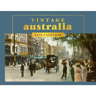 Vintage Australia 2019 Horizontal Wall Calendar by Browntrout NEW, Free Post