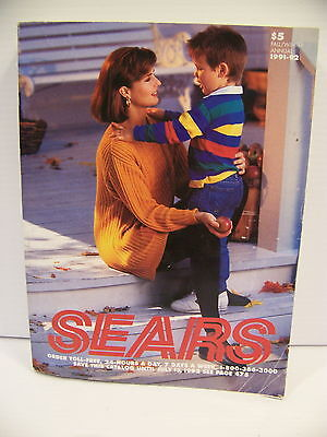 1991 / 1992 Sears Roebuck & Co. Fall Winter Catalog Redmond, Or Vintage