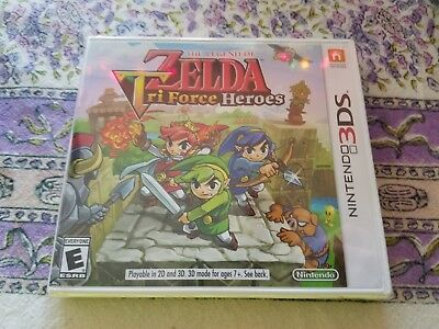 Legend of Zelda: Tri Force Heroes (Nintendo 3DS, 2015) new and factory sealed