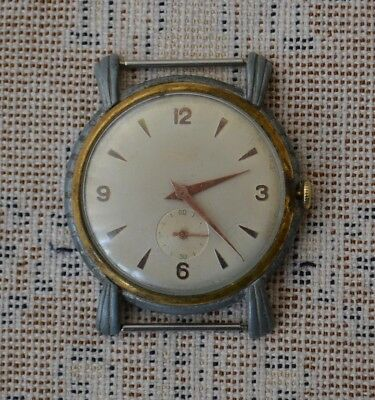 ca1960 Swiss made 15 Jewels Unknown Men wristwatch Switzerland Running Working