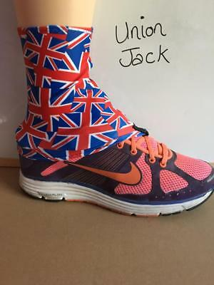 Union Jack Gaiters for Trainers Boots Sport Trail Running Walking