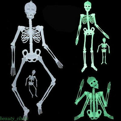 Halloween Props Luminous Human Skeleton Outdoor Party Hanging Decor 30/90/150cm