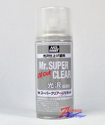 MR HOBBY Creos GSI ACRYLIC SPRAY 170ml SUPER CLEAR UV Cut Gloss B522 for Model