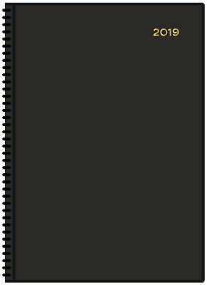 Diary 2019 Collins Belmont Black A4 Day to Page #147 22x30cm