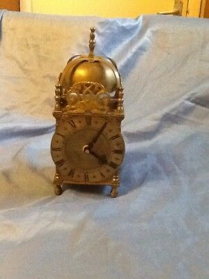 A Traditional Brass Lantern Clock