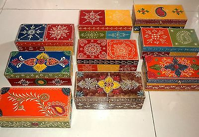 Wooden Handcrafted Hand Painted Embossed Christmas Jewelry Gift Box India