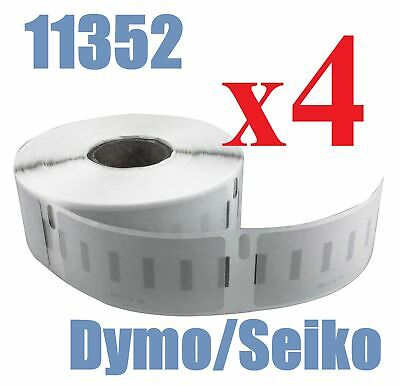 4 x Rolls Quality of Compatible Labels Dymo Seiko  SD11352 11352 25mm x 54mm