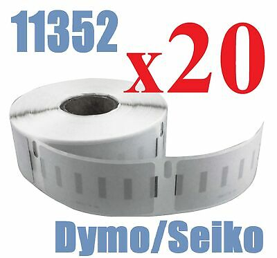 20 x Rolls Labels for Dymo Seiko 11352  25mm x 54mm LabelWriter 450/450 Turbo