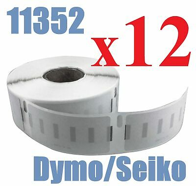 12 x Rolls Labels for Dymo Seiko 11352  25mm x 54mm LabelWriter 450/450 Turbo
