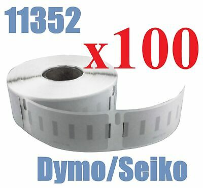 100 x Rolls Labels for Dymo Seiko 11352  25mm x 54mm LabelWriter 450/450 Turbo