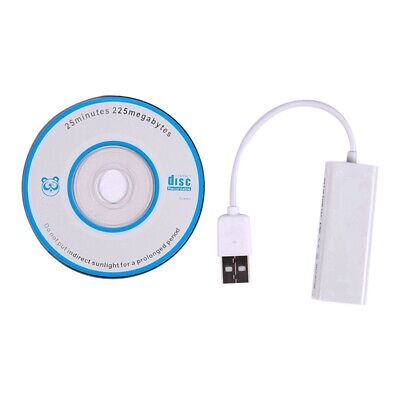 USB 2.0 to RJ45 LAN Ethernet Network Adapter For Apple Mac MacBook Air Lapt P4O1