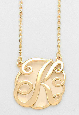 Monogram initial necklace gold letter c script circle 15pendant monogram initial necklace gold letter k script circle 15pendant personalized aloadofball Gallery