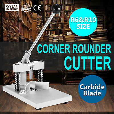 USA Manual Paper Corner Rounder Cutter R6 & R10 Aluminum Craft Trimmer All Steel