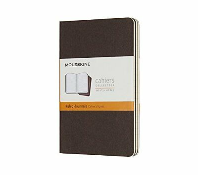 Moleskine Coffee Brown Pocket Ruled Cahier Journal Set of 3