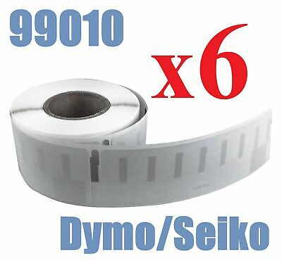 6 x Rolls Labels for Dymo Seiko 99010 89mm x 28 mm LabelWriter 450/450 Turbo