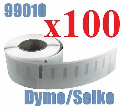 100 x Rolls Labels for Dymo Seiko 99010 89mm x 28 mm LabelWriter 450/450 Turbo