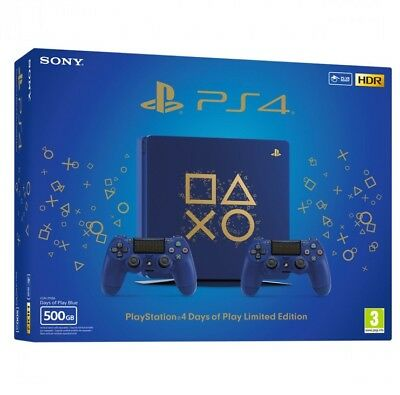 Console Sony Ps4 Slim 500 Gb Limited Edition - Days Of Play Station 4 Dop Nuova