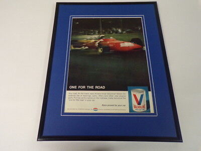 1969 Valvoline Motor Oil Framed 11x14 ORIGINAL Vintage Advertisement