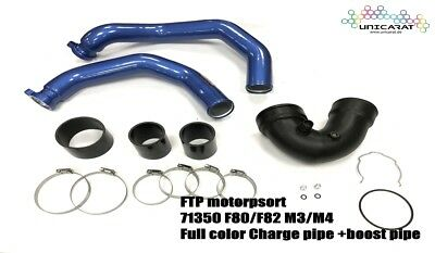 FTP BMW S55 Ladedruckrohr blue Charge pipe+Boost pipe BMW F80 M3/F82 M4