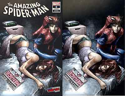 AMAZING SPIDERMAN 6 vol 5 2018 RAMOS COMICXPOSURE NYCC VIRGIN VARIANT 2 PACK SET